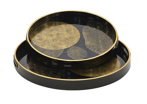 Glass Tray - Gold Leaf