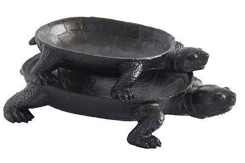 Resin turtle platter Black Woodka Interiors