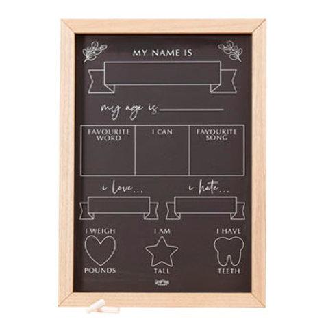 Botanical Baby - Milestone tracker chalkboard - Game