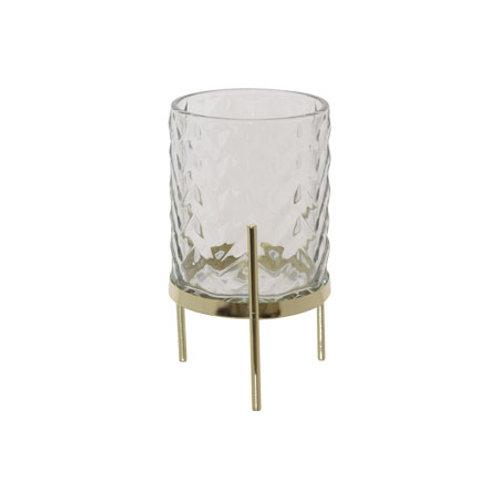 glass candle holder on base