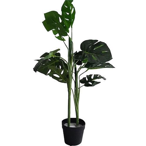 realistic monstera faux plant