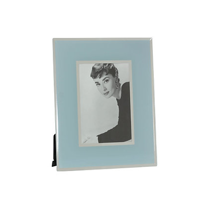 WOODKA INTERIORS DUCK EGG BLUE PHOTO FRAME 23X18CM