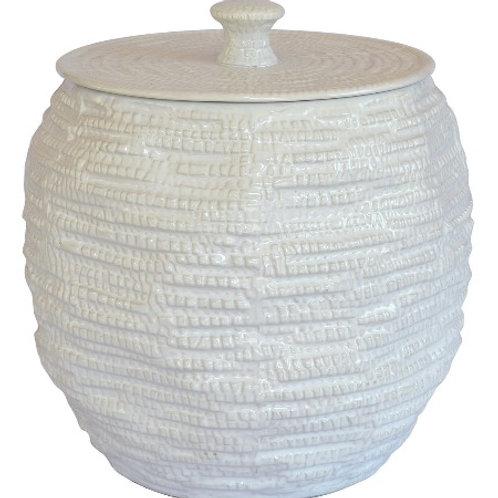 Ceramic Mosaic Pot Planter White - Large