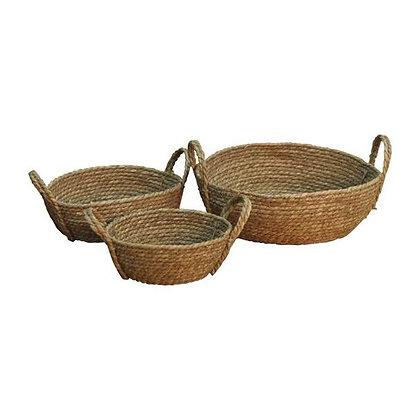 Set Of 2 Weaved Basket Bowls
