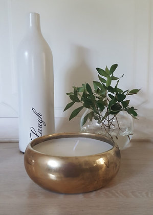 Candle -  in Gold bowl