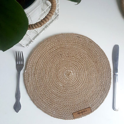 woven placemats  round set of 4 -Woodka Interiors