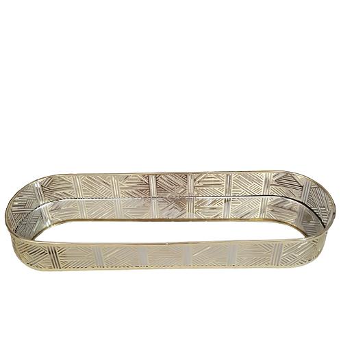 gold narrow oblong tray