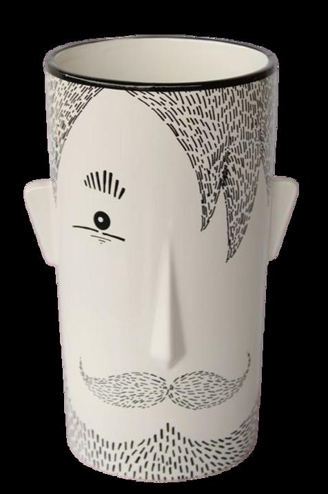 Ceramic Vase with Face 23cmx13cm