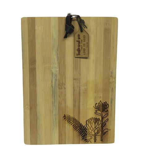 Engraved Bamboo Board - Protea