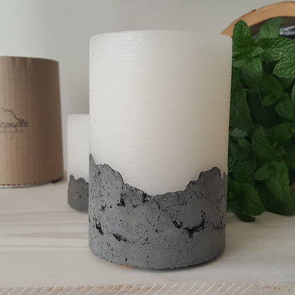 Handcrafted  Concrete based Candle - Sandalwood