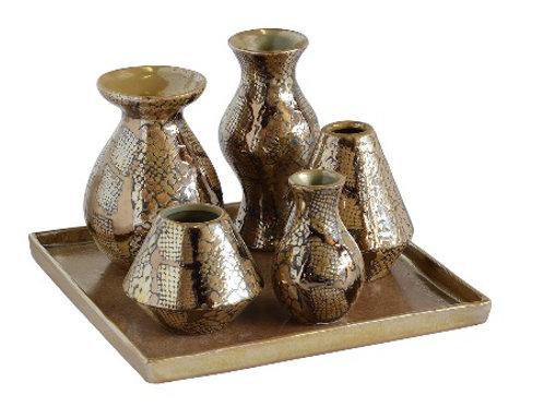 Ceramic Trinket Tray - Snake Skin - Set of 6