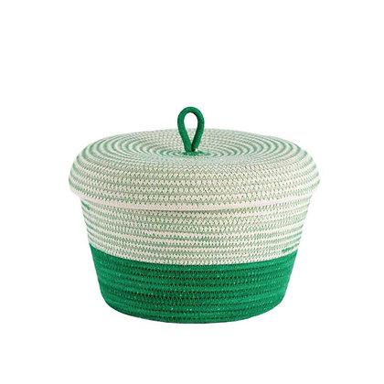 Lidded Bowl Basket Greenery