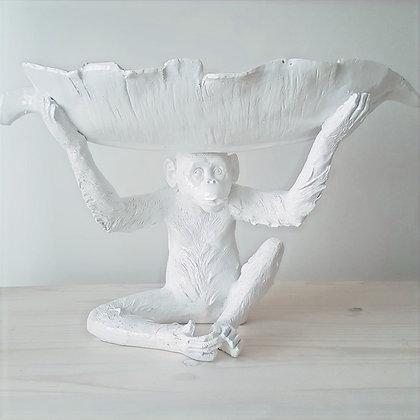 woodka-interiors-monkey-decor-leaf-bowl-resin-white