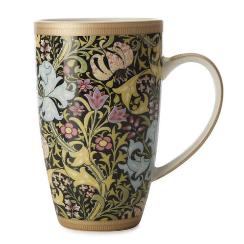 Maxwell and Williams William Morris Coupe Mug- Golden Lily Black
