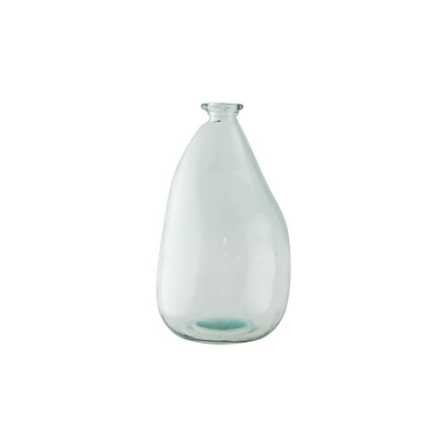 recycled glass table vase large - woodka interiors