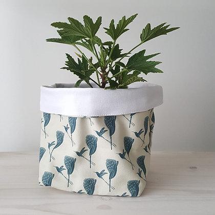 Fabric pot plant reversible woodka interiors