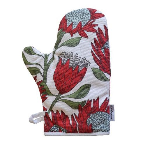 Single Oven Glove: Protea (Cream)