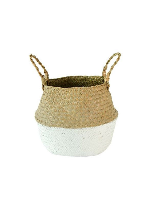 Belly Baskets two toned white and natural