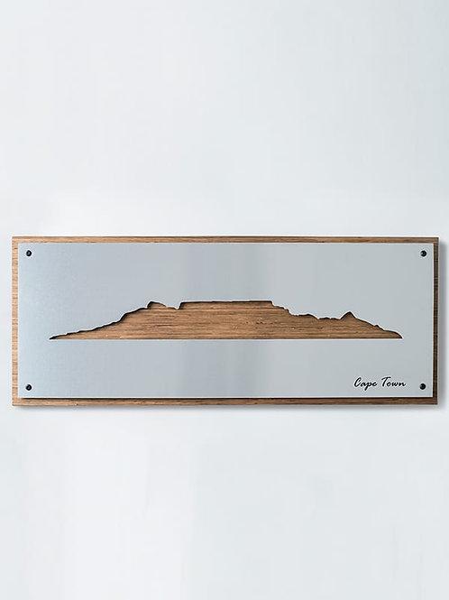 Cape Town Skyline Brushed Aluminium Wall Art