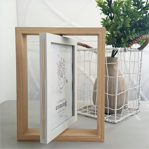 Double-Sided Swivel Photo Frame