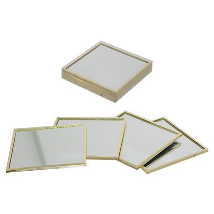 Glass Mirror Coaster set of 4