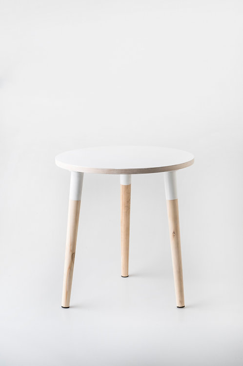 Birch Round Side Table – White | Woodka Interiors