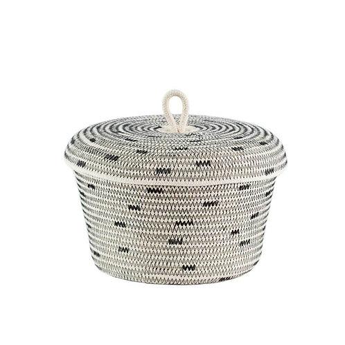 Lidded Bowl Basket Stitched