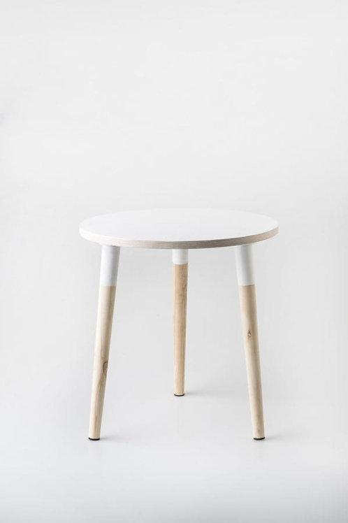 Birch Round Side Table – White