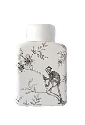 Woodka interiors Monkey design ginger jar