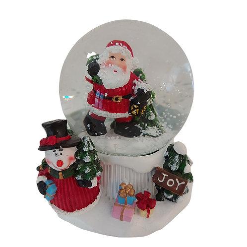 Snow Globe with Santa & Snowman