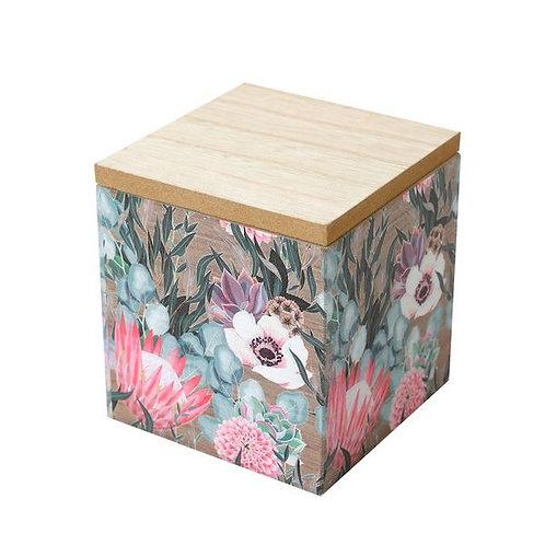 King Protea Wooden Storage Box small- woodka Interiors