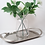 Clear Glass Vase- Flower Sprig vase
