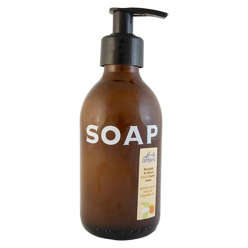 Liquid Hand Soap – BAOBAB & CITRUS – 200ML – ANTIBACTERIAL