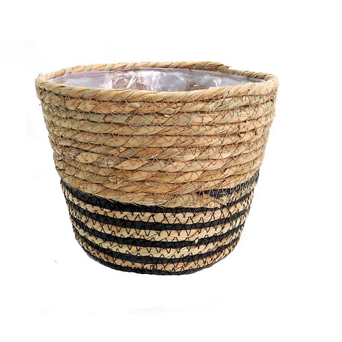 basket with liner for plants Woodka Interiors