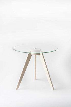 Birch Round Glass Side Table   Woodka Interiors