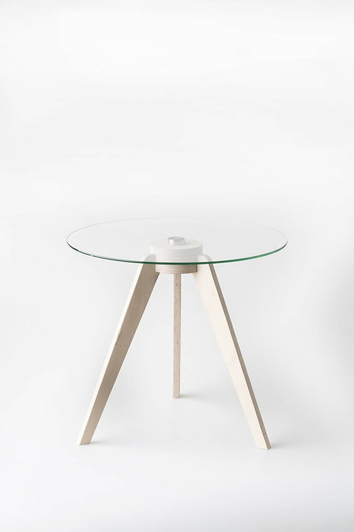Birch Round Glass Side Table | Woodka Interiors
