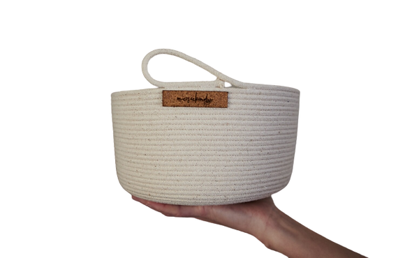 ivory cotton basket woodka interiors