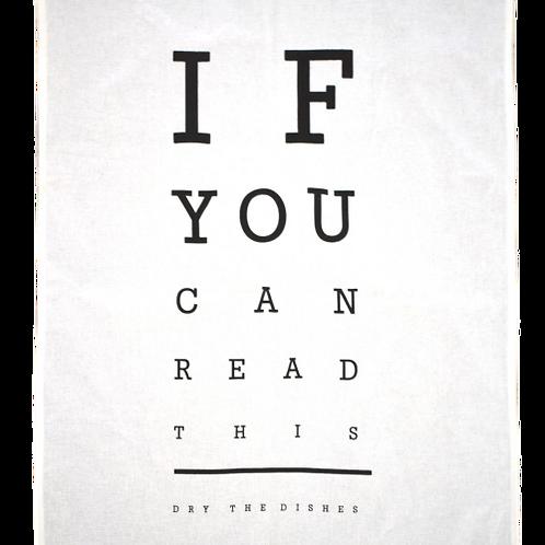 Eye Chart – Tea Towel