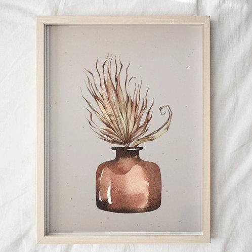 Safari-Art-Print- Poster- plant in pot