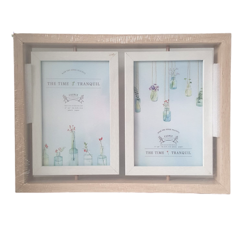 double sided wooden frame