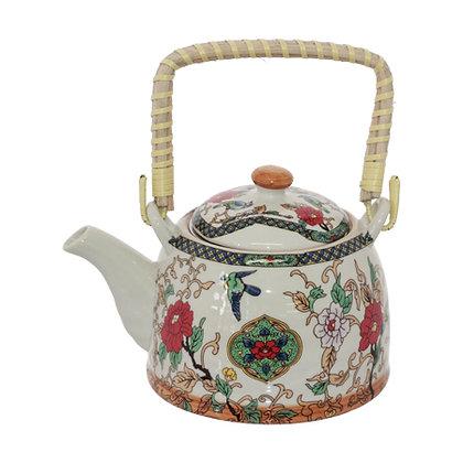 Tea Pot Set With  4 Cups - Blossom Fusion Design