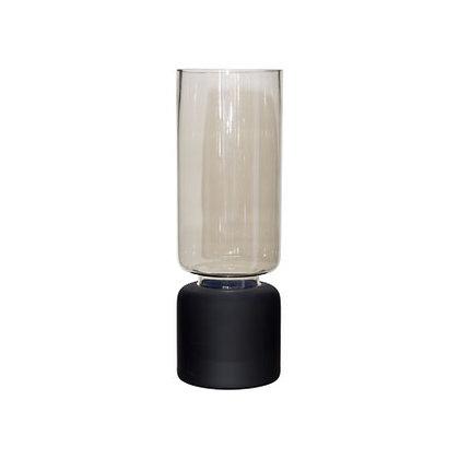 Lustre Vase - Matt Black - Medium