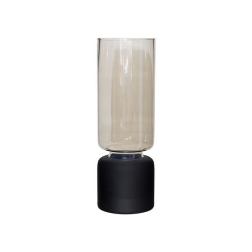 Lustre Vase - Matt Black - Medium