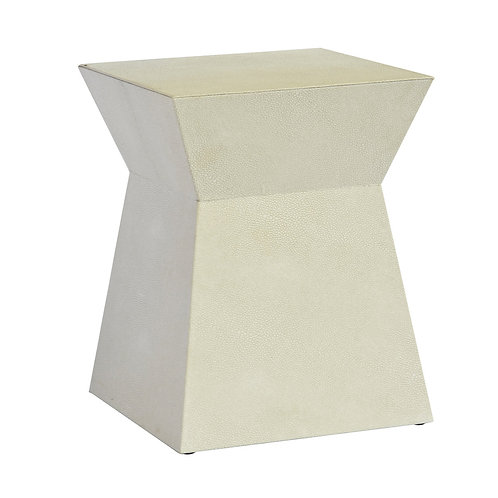 Shagreen Stool Square- Cream  45cm x35cm