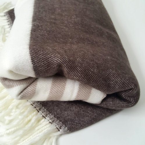 Haven and earth bed throw - brown