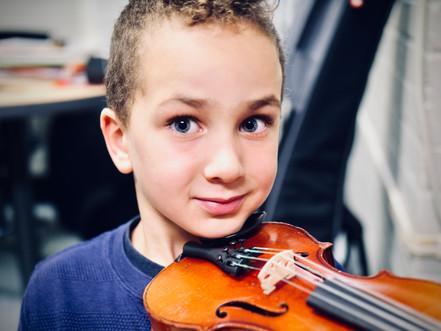 Calvin and the violin