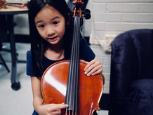 Amelie with the cello