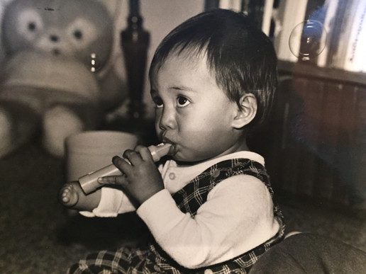 Adrian playing flute