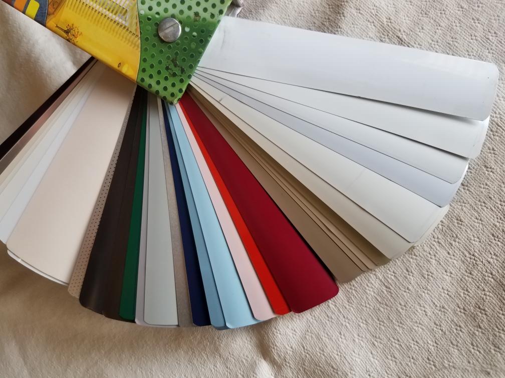 Aluminum Mini Blind Sample Colors