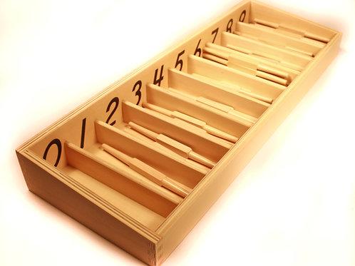CAJA DE HUSOS de madera